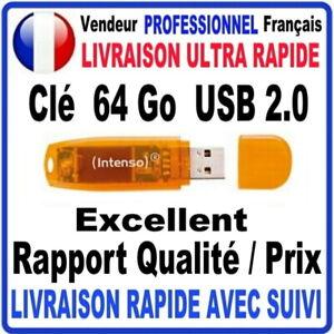 Clé USB 64 Go USB 2.0 RAINBOW LINE INTENSO