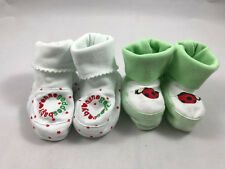 Anne Geddes 0-3 and 3-6 month Bootie Sets Red, White, Green - NEW w/out tags