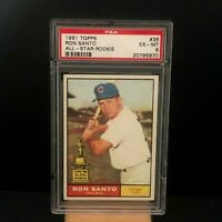 1961 Topps #35 Ron Santo ROOKIE RC Chicago Cubs EX-MT PSA 6 Graded Baseball Card