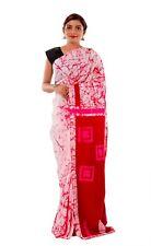 Designer Bollywood saree indian COTTON sari batik printed hand block fabric sari