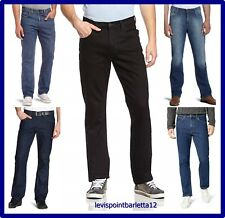 Lee Brooklyn Jeans da uomo elasticizzato pantaloni a vita alta regular denim blu