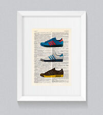 Adidas Forest Hills Originals Vintage Dictionnaire Livre Print Wall Art