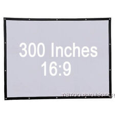 300 Inch 16:9 Big Size Portable Fast Fold White Fabric Projector Screen Curtains