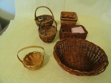 Lot of 6 Small  Baskets/Wicker/Rattan/Woven/Small/Display/Crafts/BoHo,  2