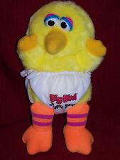 "Sesame Street Yellow Big Bird  Luvs You Babys Plush HASBRO SOFTIES 11"""