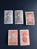 DAHOMEY - French colony - 5 stamps 1913-1925, Mint And Used