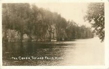 Taylors Falls Minnesota~The Cross~Saw Several Muskies Yesterday 1935 Sepia RPPC