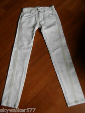 Michiko Koshino Yen White Twisted Seam Denim  Jeans 25