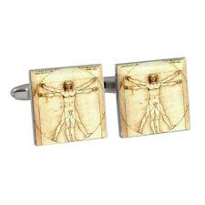 Da Vinci L'uomo Vitruviano Art gemelli nuovi con scatola