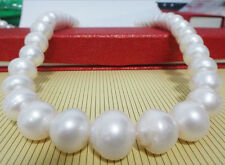 """HUGE 18""""15MM NATURAL SOUTH SEA GENUINE WHITE PEARL NECKLACE"""
