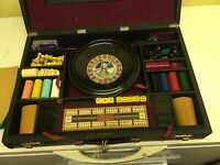 ANTIQUE OR VINTAGE K & C LONDON LARGE COMPENDIUM GAMES BOX AND CHESS-ROULETTE.