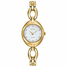 Citizen Eco-Drive Women's EX1432-51D Silhouette Swarvoski Crystals Bangle Watch