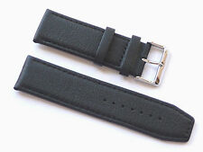 Quality Men's Lug 24mm Black Genuine Leather Strap Replacement Kenneth Cole Men
