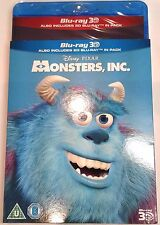MONSTERS, INC. New 3D (and 2D) Blu-Ray Movie w/ SLIPCOVER Region-Free Pixar 2001