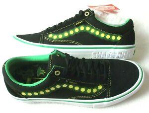 Vans Men's Old Skool Pro Shake Junt Black White Green Skate Shoes Size 9 NIB