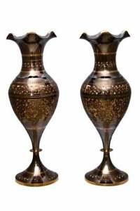 Decorative Vintage Antique Flower Style Brass Pot, Handmade Brass Vase.