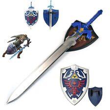 Link's Stainless Steel Life Size Master Sword Steel Blade Shield Set Hylian LOZ