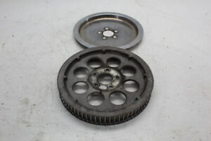 97 HARLEY-DAVIDSON DYNA SUPER GLIDE FXD REAR DRIVE BELT PULLEY WITH COVER