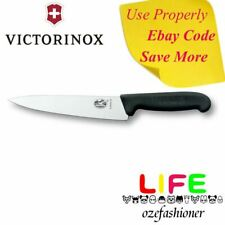 VICTORINOX COOKS CHEF'S KNIFE Black Fibrox handle 19CM 5.2003.19 IS