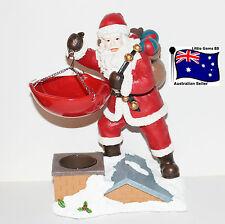 YANKEE CANDLE * Santa On The Roof * LARGE TART WARMER BURNER * CHRISTMAS *