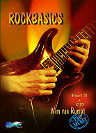 Rockbasics 3  - Wim van Rumpt (English edition). Method for rock guitar