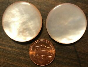 13 Vintage Pink Mother of Pearl Buttons \u2022 10 mm