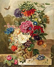 Flower Arrangement A1 by Anthonie van den Bos High Quality Canvas Print