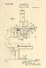 Official Microscope Patent Art Print - Circa 1931 - Vintage/Antique Scientist 66