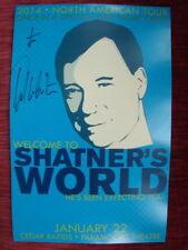 William Shatner Hand Signed Print Shatner's World 2014 Tour ~ Captain Kirk