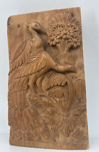 Antique India Sandalwood Wood Carving From The Elephant Caves Bombay Peacocks