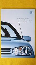 Volkswagen Golf Cabriolet S SE Avantgarde car brochure catalogue 1998 MINT VW B
