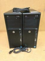 LOT OF 2 HP Z420 Workstation Xeon E5-1603 2.80GHz Nvidia Dual Display Video Card