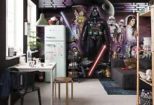 Star Wars Fototapete Wandtapete für Kinderzimmer 368x254cm Darth Vader Collage