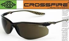 Crossfire 24Seven HD Brown Safety Glasses Sun Shooting High Definition Z87.1