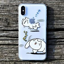 MADE IN JAPAN Hard Shell Clear Case Japanese Anime Cats for iPhone X