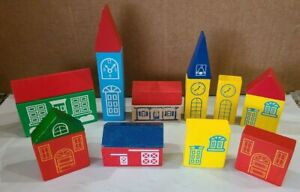 Wooden Train TOWN 17 piece Accessories Buildings Trees THOMAS & Friends BRIO