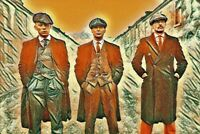 """The  3  PEAKY BLINDERS PICTURE CANVAS WALL ART """"20X30"""""""