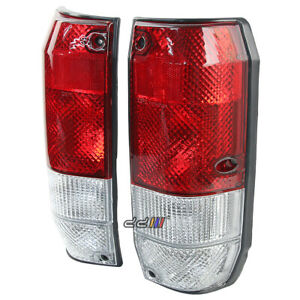 Crystal Red White Tail Light Lamp For Land Cruiser LC2 4 Door 1990-2004