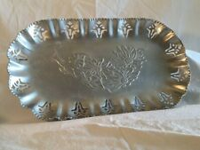 Bread Tray. Vintage. Farber&Shelvin. Aluminum. Hand Wrought. Floral Art Deco.