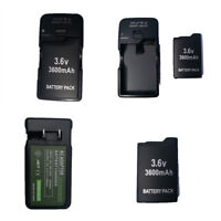 2x 3600mah Rechargeable Battery for Sony PSP-110 PSP-1001 PSP 1000 +AC Charger