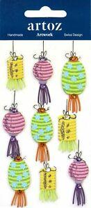 Chinese Summer Lanterns Scrapbook Card Topper Craft Embellishment
