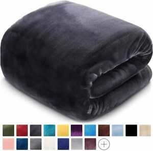 LEISURE TOWN Fleece Blanket King Size Fuzzy Soft Plush Blanket Oversized 330GSM