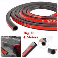 Waterproof 4M D Shape Vehicle Car Insulation Accessories Rubber Seal Strip Trim