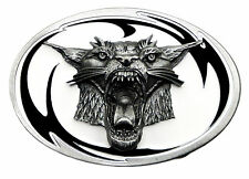 Tribal Wildcat Belt Buckle Animal Tiger Lion Cat Authentic White Wolf Product