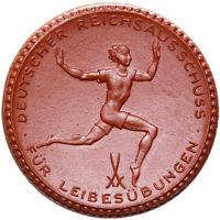 Berlin - Münze - 15 Mark 1921 - REICHSAUSSCHUSS FÜR LEIBESÜBUNGEN - Porzellan
