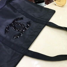 Chanel vip black sequin Tote Bag