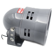 1PC 12v Grey Air Raid Siren Horn Tornado Alarm Motor Drive Police Fire Useful