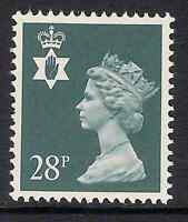Northern Ireland 1991 NI63 28p litho phosphorised paper Regional Machin MNH