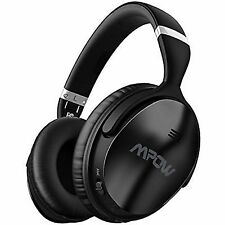 Mpow H5 Active Noise Cancelling Bluetooth Over Ear Stereo Headphones with Mic - Black (MPBH143AB-US)