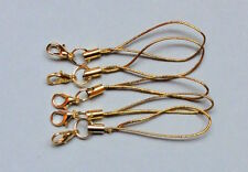 5 Bänder/Band f. Anhänger - Farbe: gold - Handy/Schmuck/Charm/USB-Stick/.. *neu*